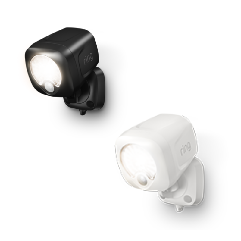 - Ring Spotlight is available in both white and black finishes
