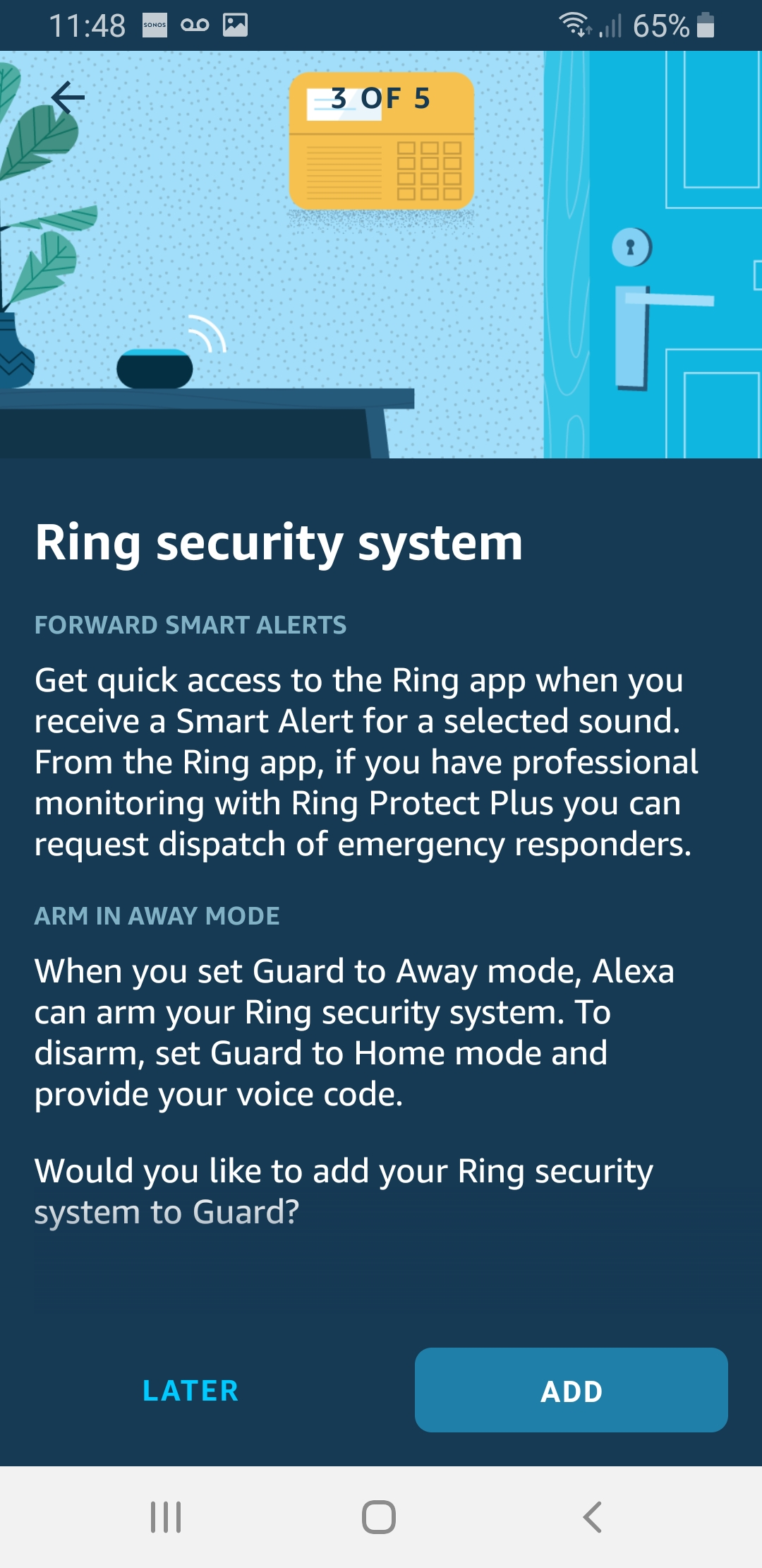Using  Echo Show 5  with Ring Security System