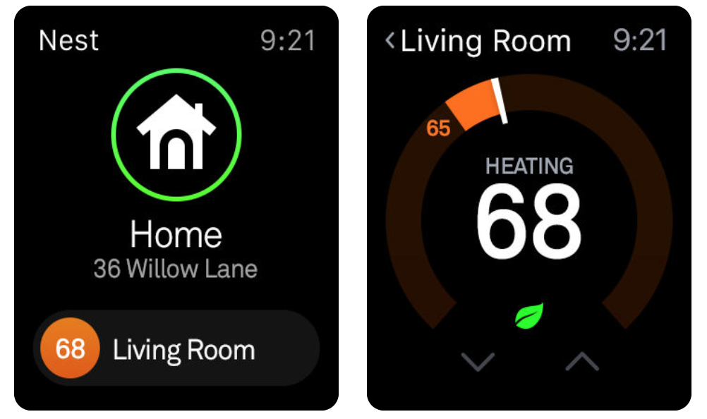 Nest Thermostat Review: Nest Thermostat Control On  Apple Watch