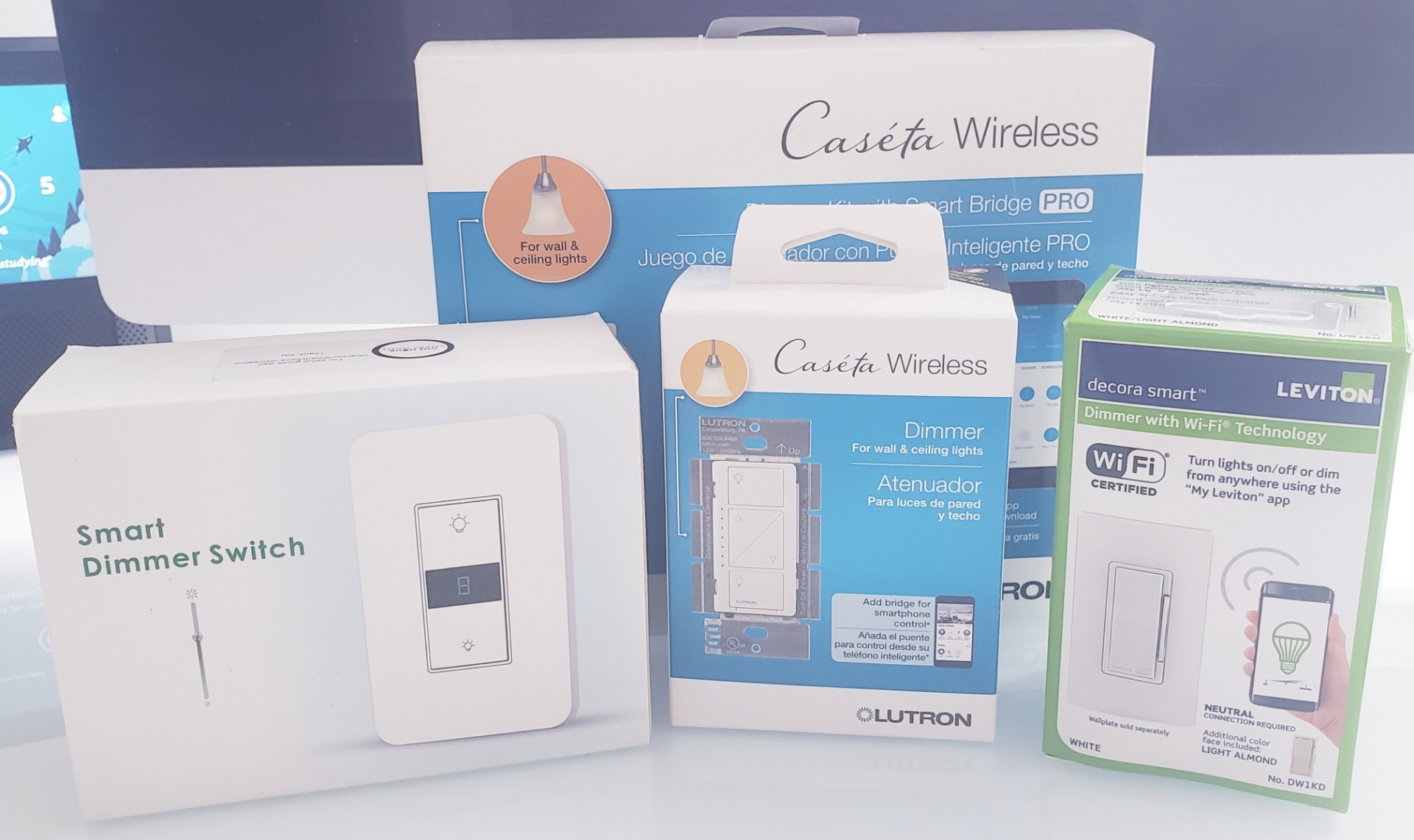 Best Remote Control Light Switches:  Leviton ,  Lutron Caseta  and  One Hour Smart Home Dimmer