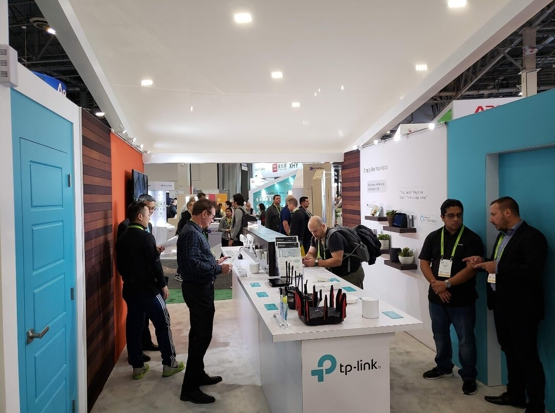 tp-link smart light switch booth at CES 2019