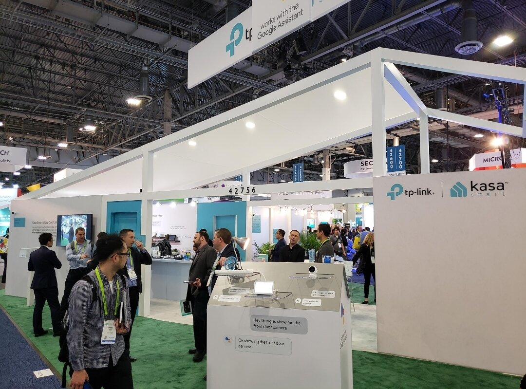 tp-link booth at CES