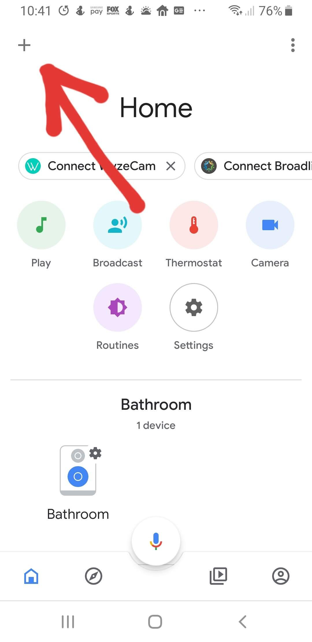 Add a device for Google Home Light Control