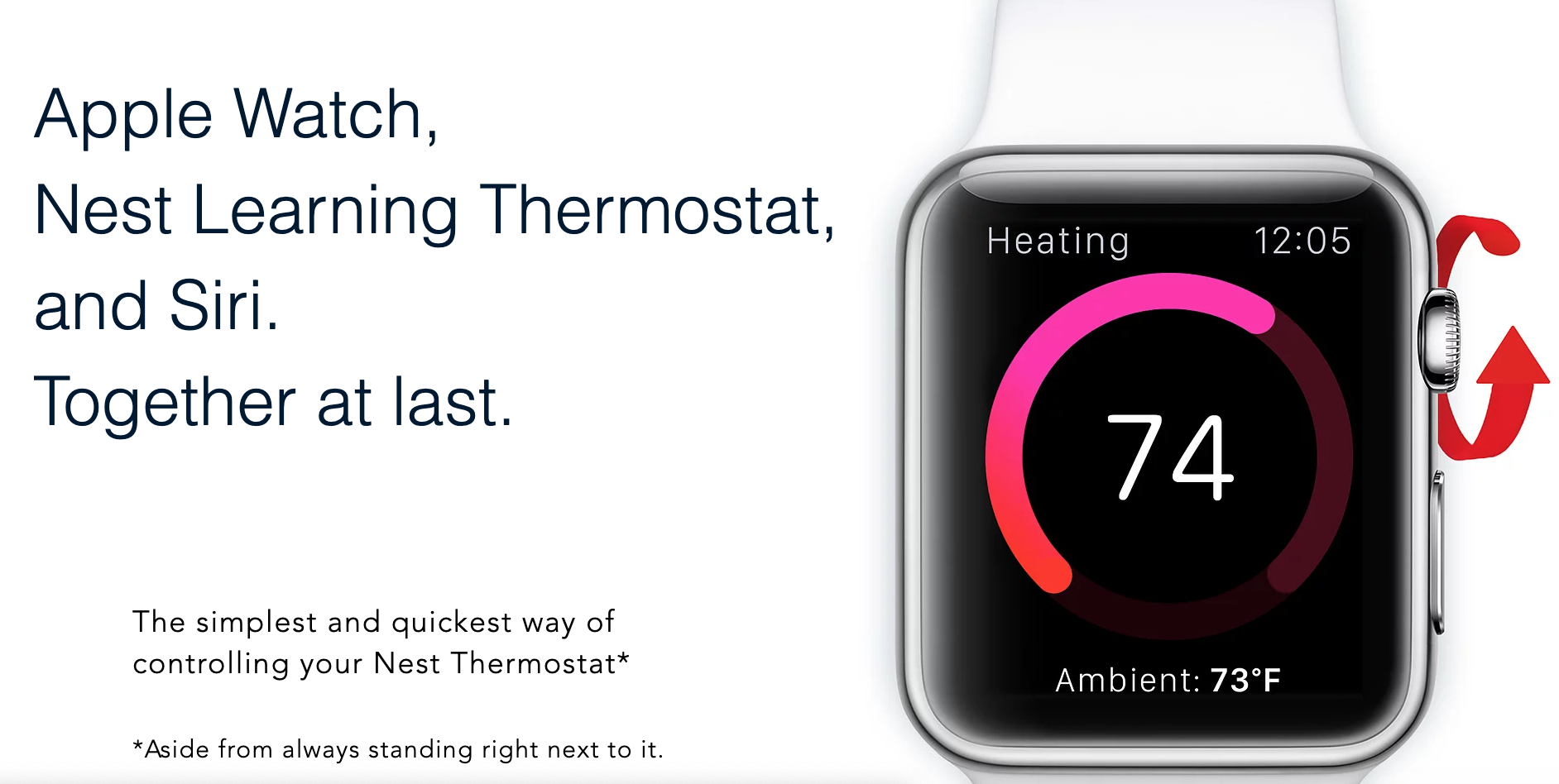Does Nest Work With Apple Watch? Yes, it can with the Thermowatch App. (Image Source: Thermowatch)