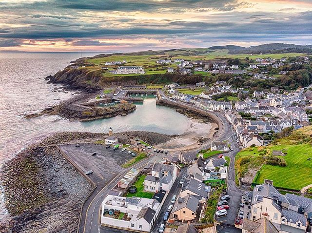 Portpatrick at sunset, captured on a Mavic Pro Air drone. I'm really starting to explore the possibilities for photography with drones, there are so many!