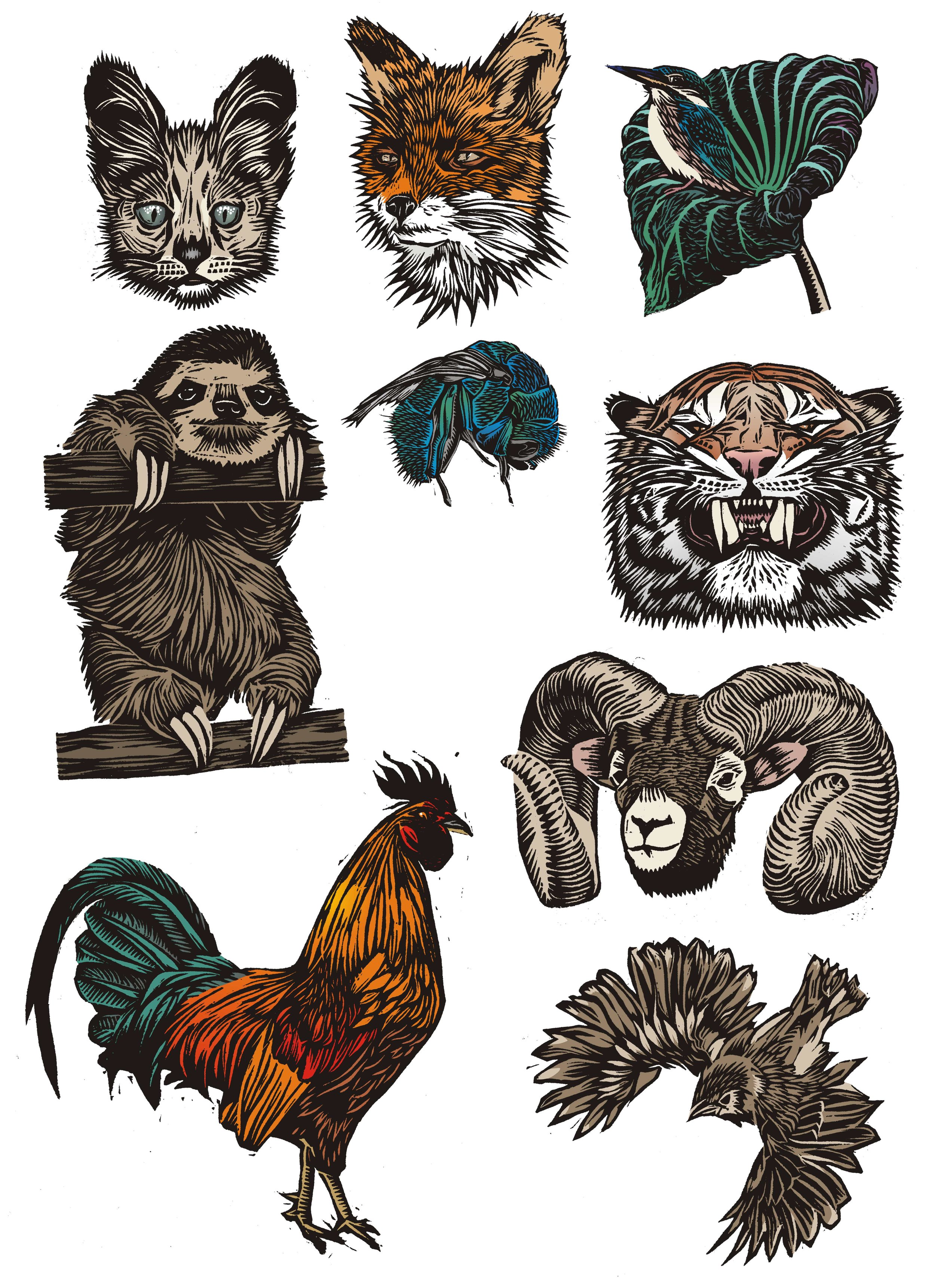 lino cut animals.jpg