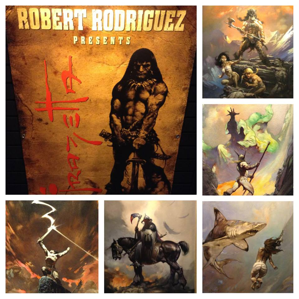 The best of the show was getting to see these Frazetta paintings in person.