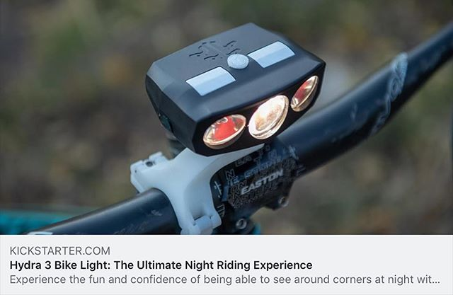 @kickstarter is live!  The Hydra3 is the world's first terrain-adaptive bike light and will completely change your night riding experience.  Please support us and share the stoke!  Link in profile to our Kickstarter page. • • • #bikelights #mtb #nightriding #startuplife #mysticdevices #exploretheunknown #kickstarter #kickstartercampaign #kickstarterproject