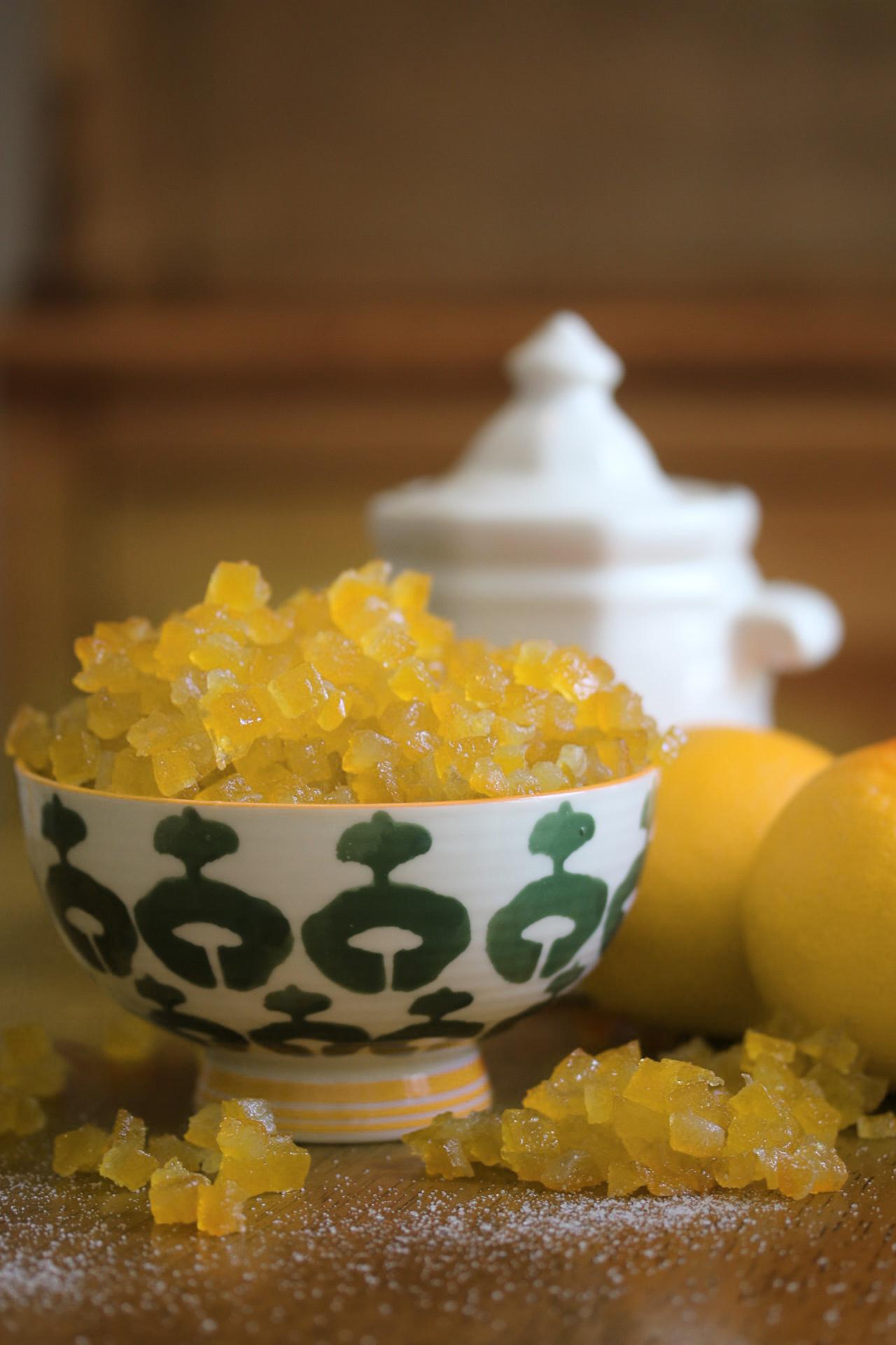 Organic Candied Lemon Cubes