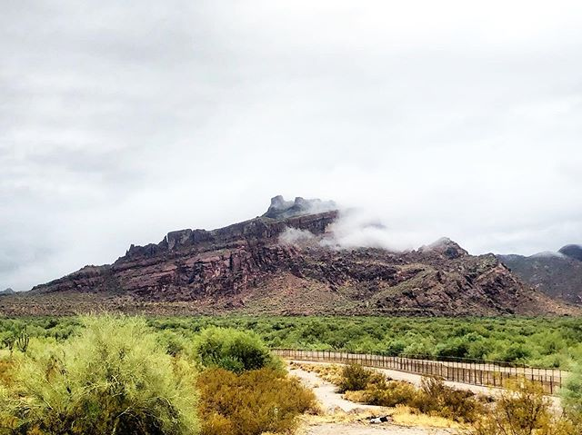 Clouds and rain at Red Mountain