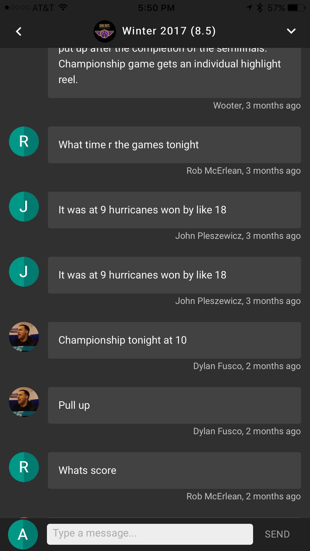 League Chat (App)