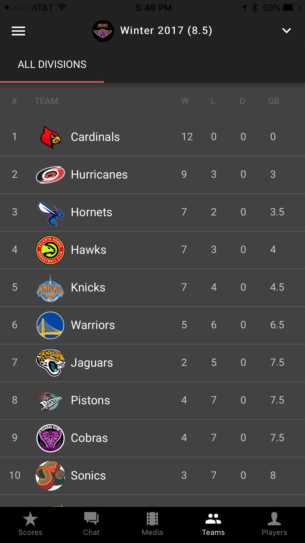 Standings (App)