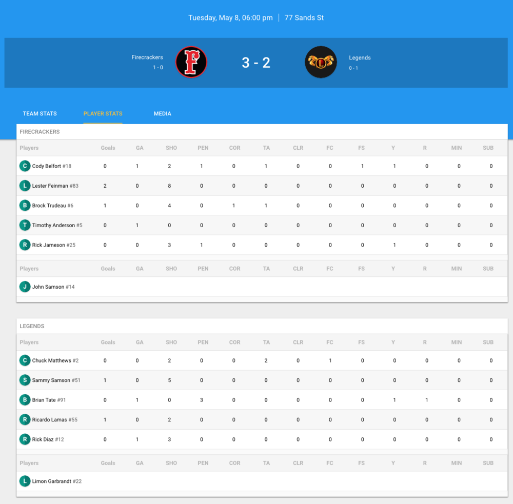 Soccer App & Website for your League, Team, or Tournament
