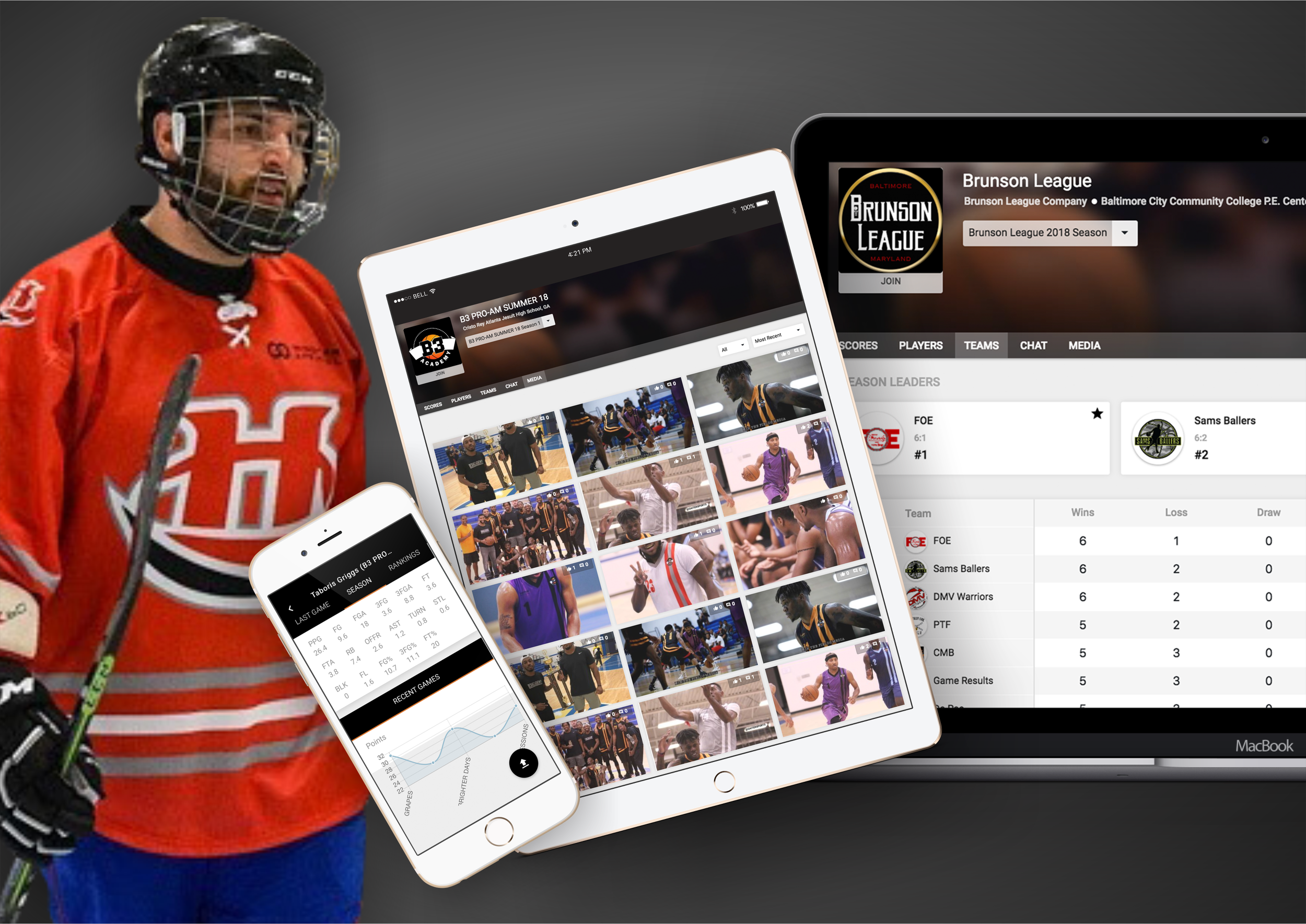 🏑🏒 Field & Ice Hockey - Wooter makes it simple for you to manage and display your Hockey league, team or tournament on your own app & website - all from one place!