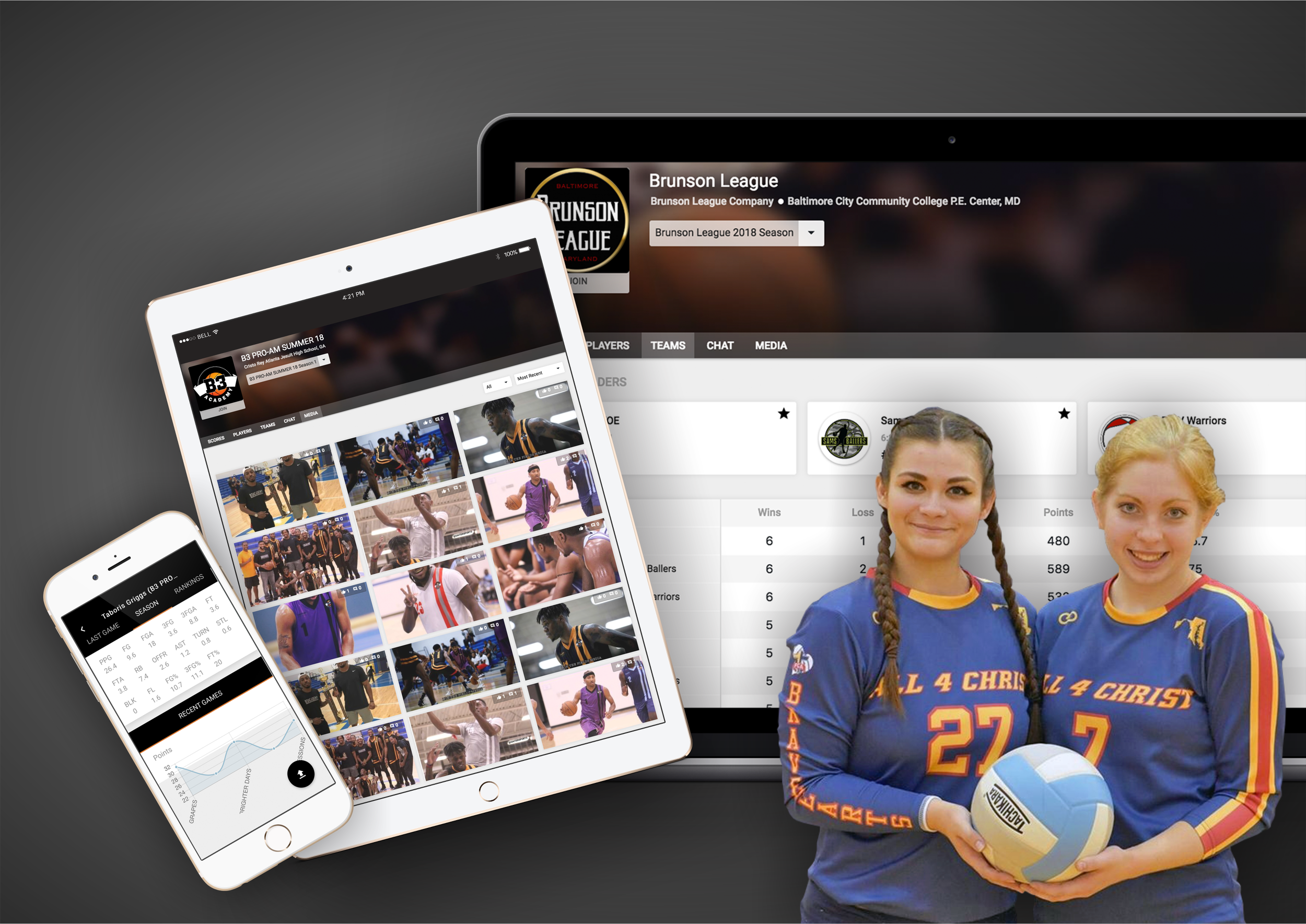🏐 Volleyball - Wooter makes it simple for you to manage and display your Volleyball league, team or tournament on your own app & website - all from one place!