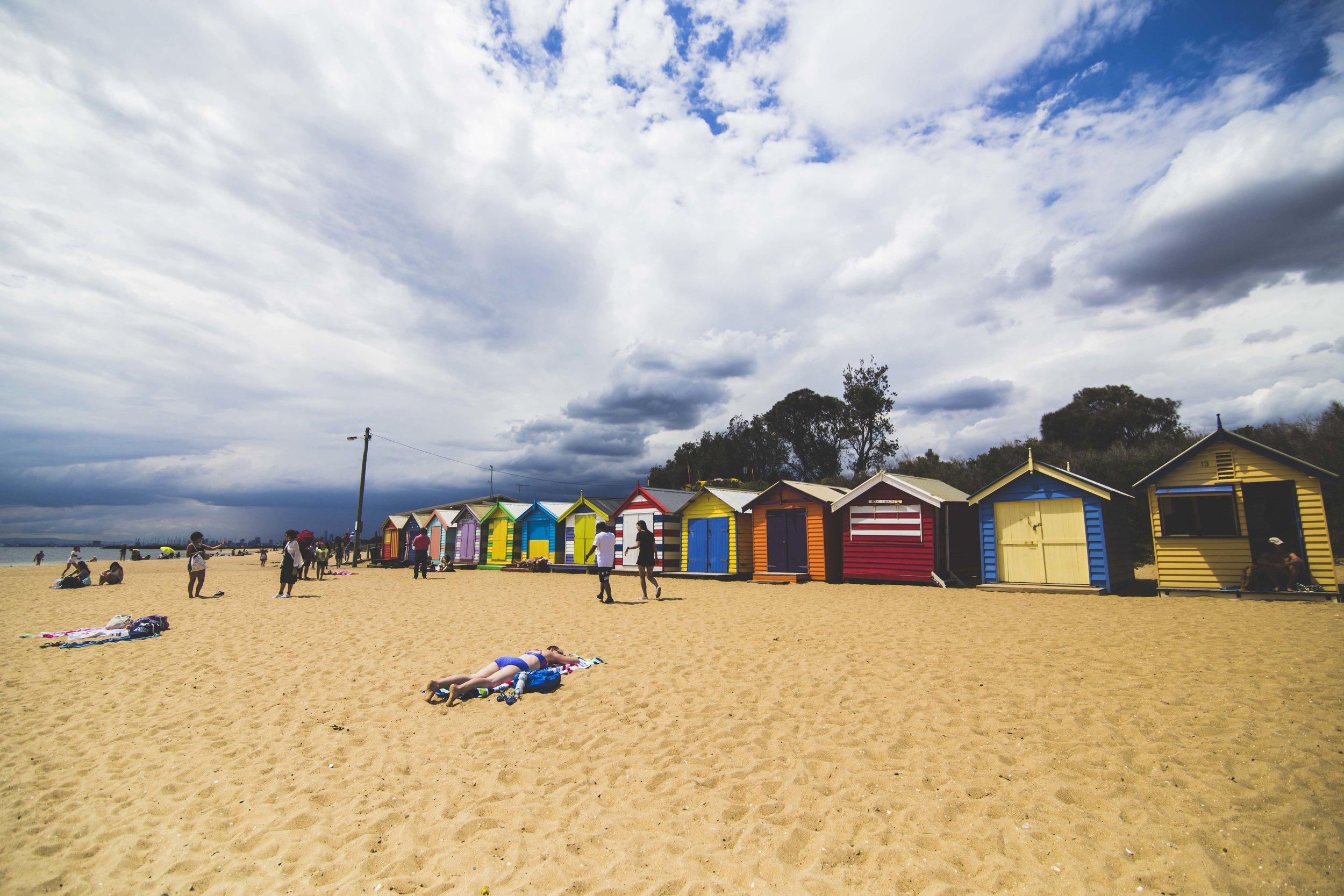 Bathing Boxes in Brighton Beach near Melbourne. Photo: Marine Raynard