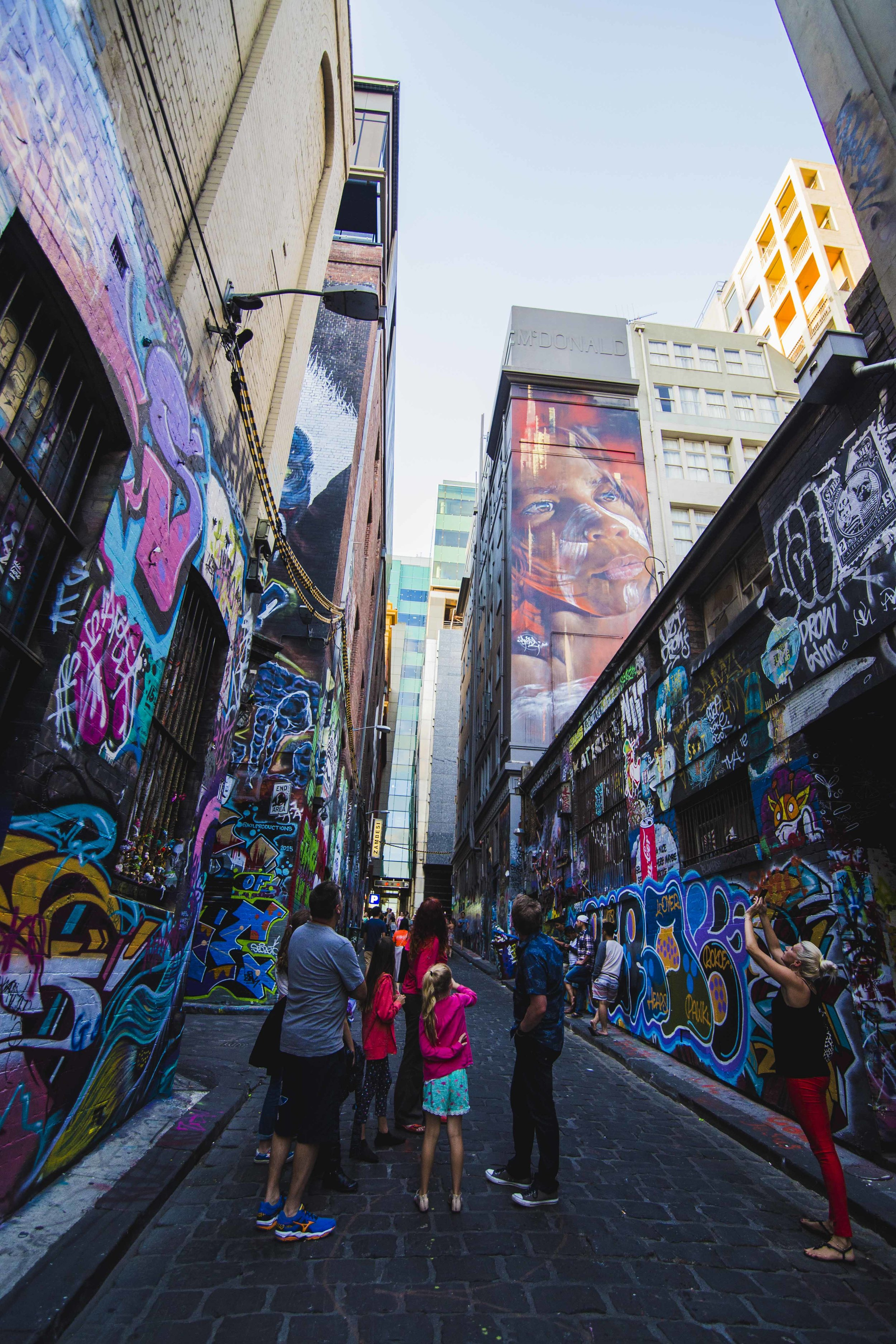 Streets full of tags in Melbourne. Photo: Marine Raynard