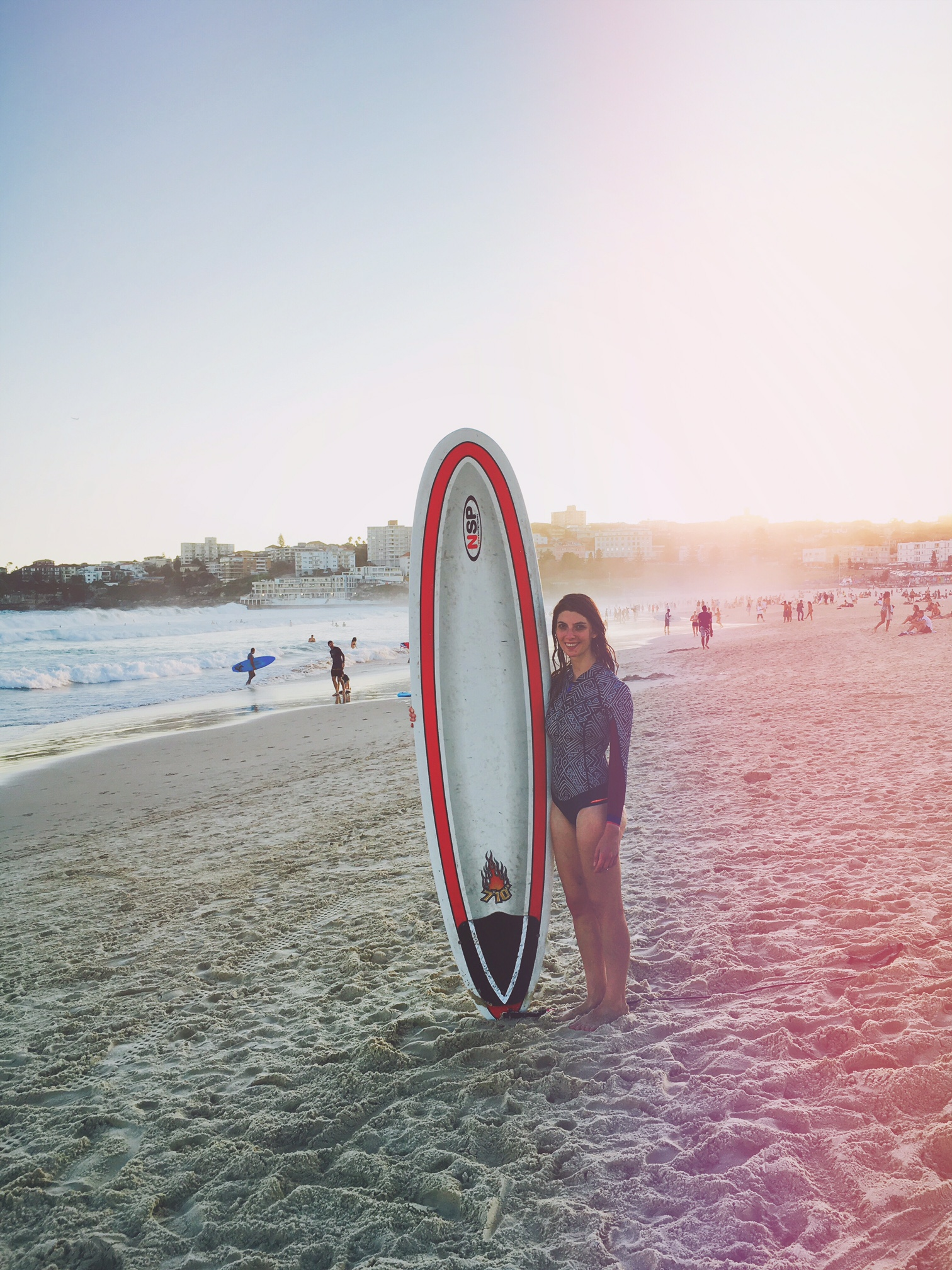 Living my surfing life in Australia at Bondi Beach