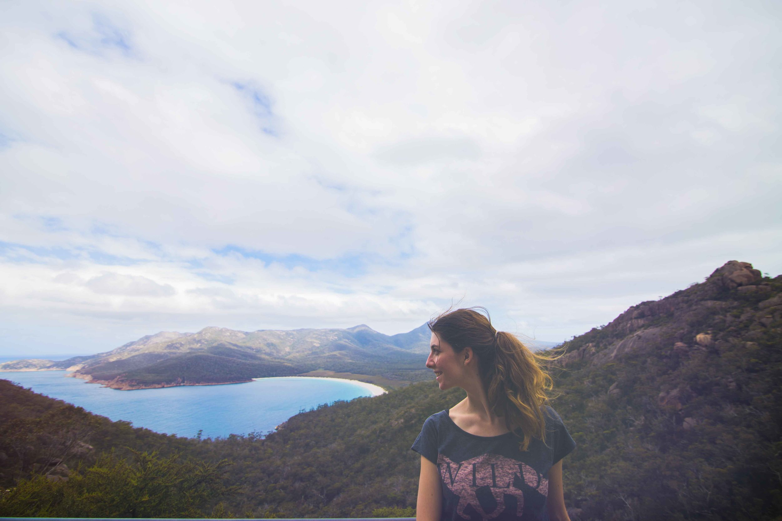 It was hot and humid at Wineglass Bay.