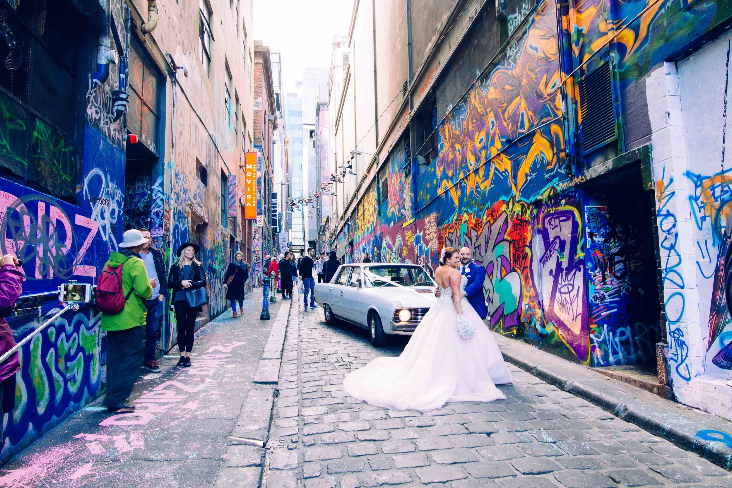 Hosier Lane in Melbourne. Photo: Marine Raynard