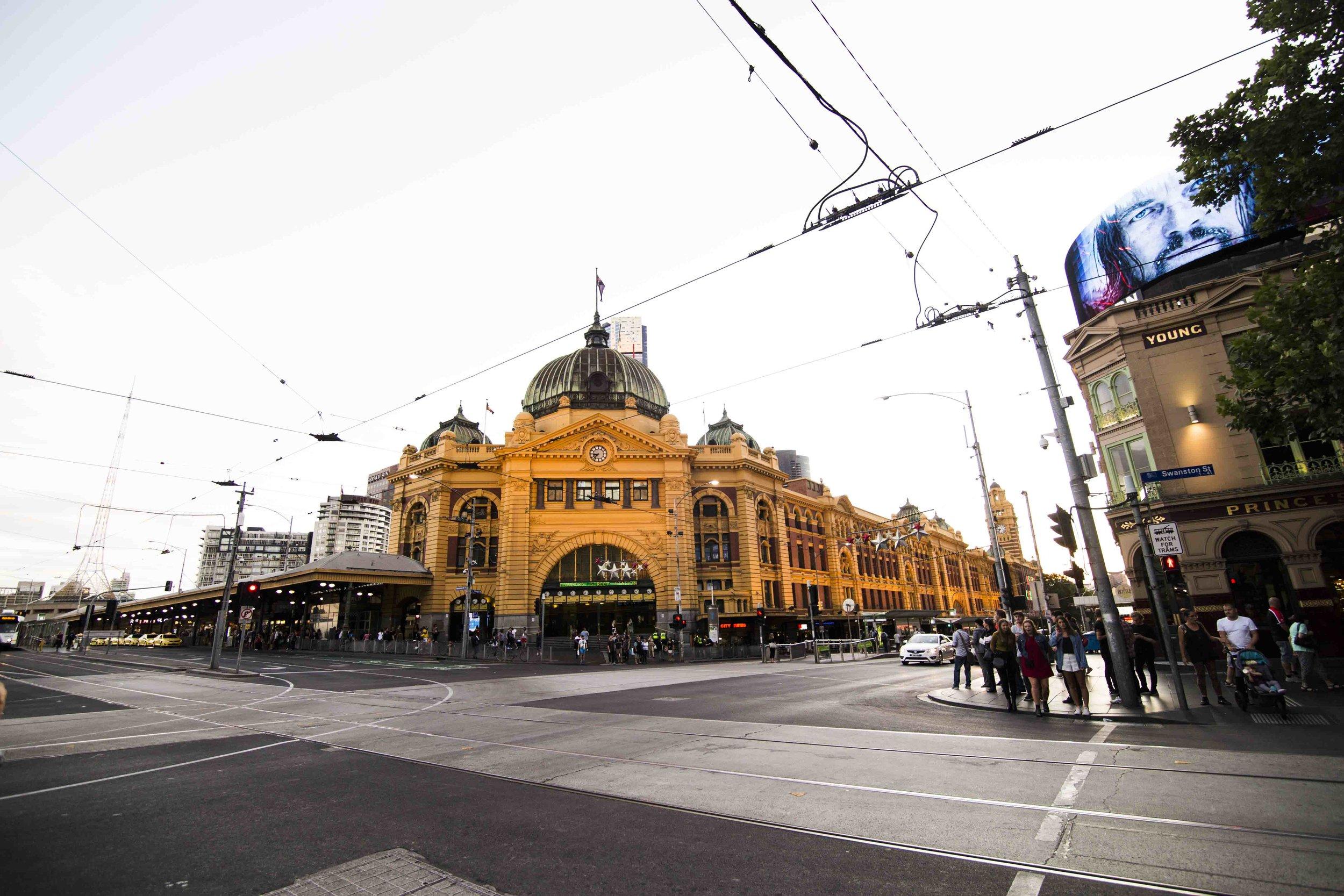 Flinders Station. Photo: Marine Raynard