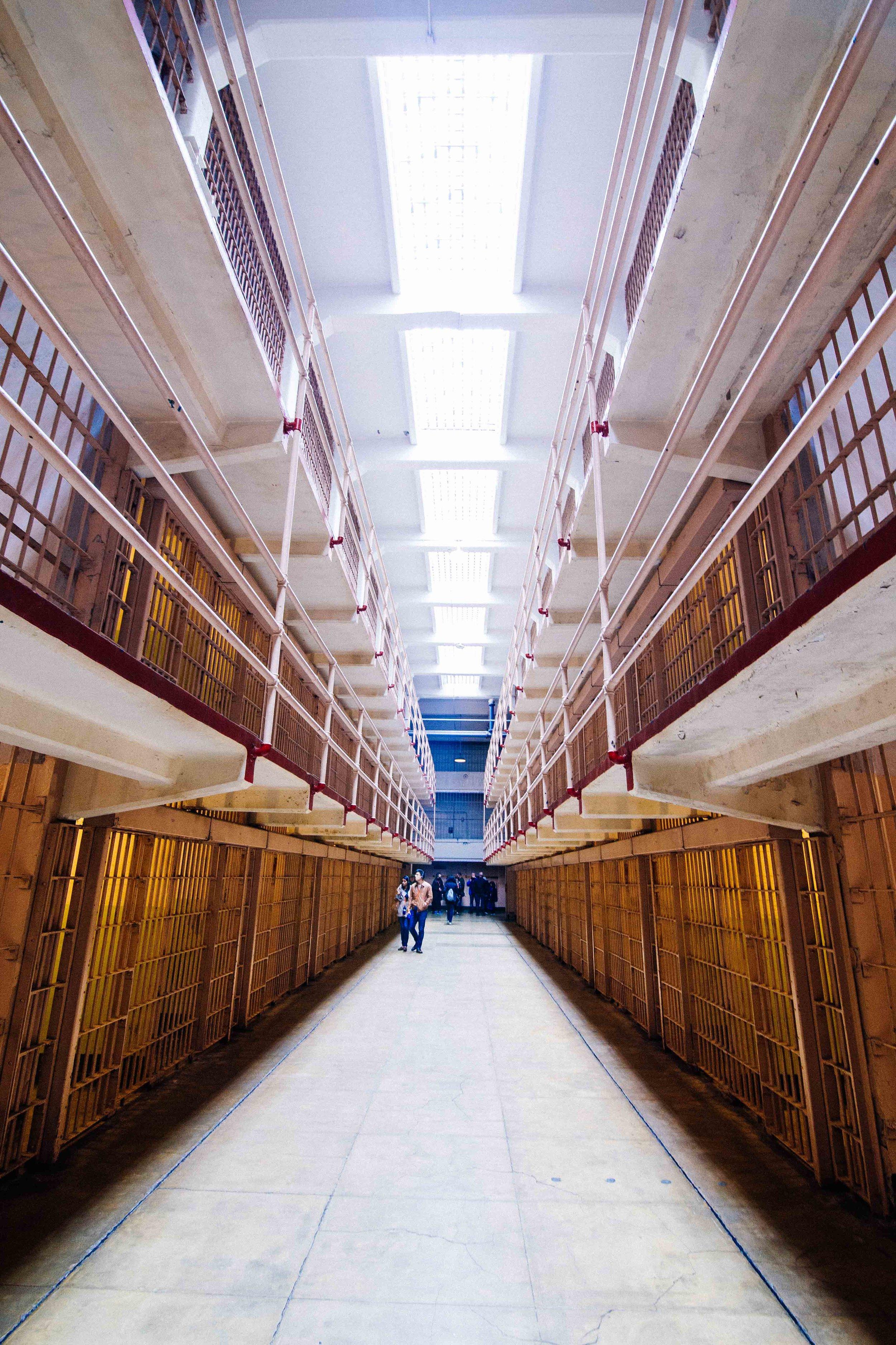 Inside Alcatraz in San Francisco. Photo: Marine Raynard