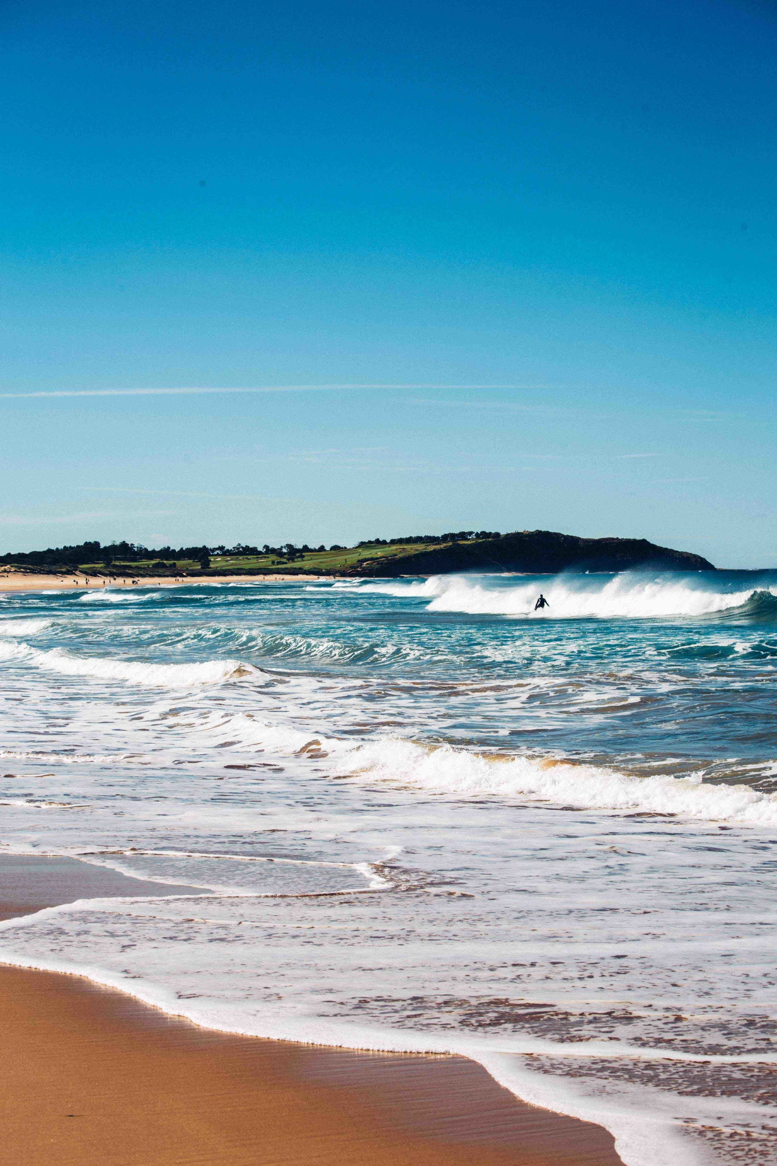 From Dee Why Beach with a view of Long Reef in the background. Photo: Marine Raynard