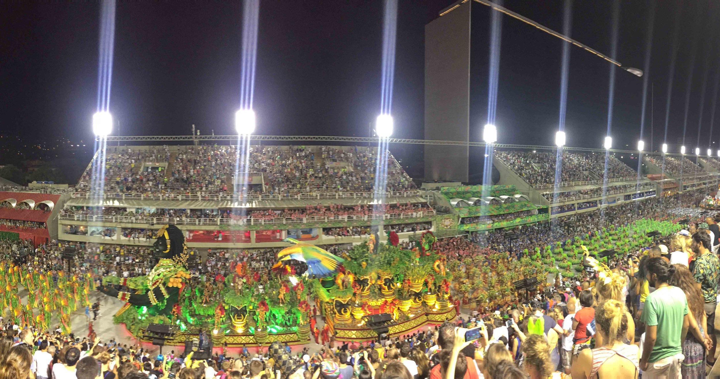 Sambodrome Rio de Janeiro, Brazil.