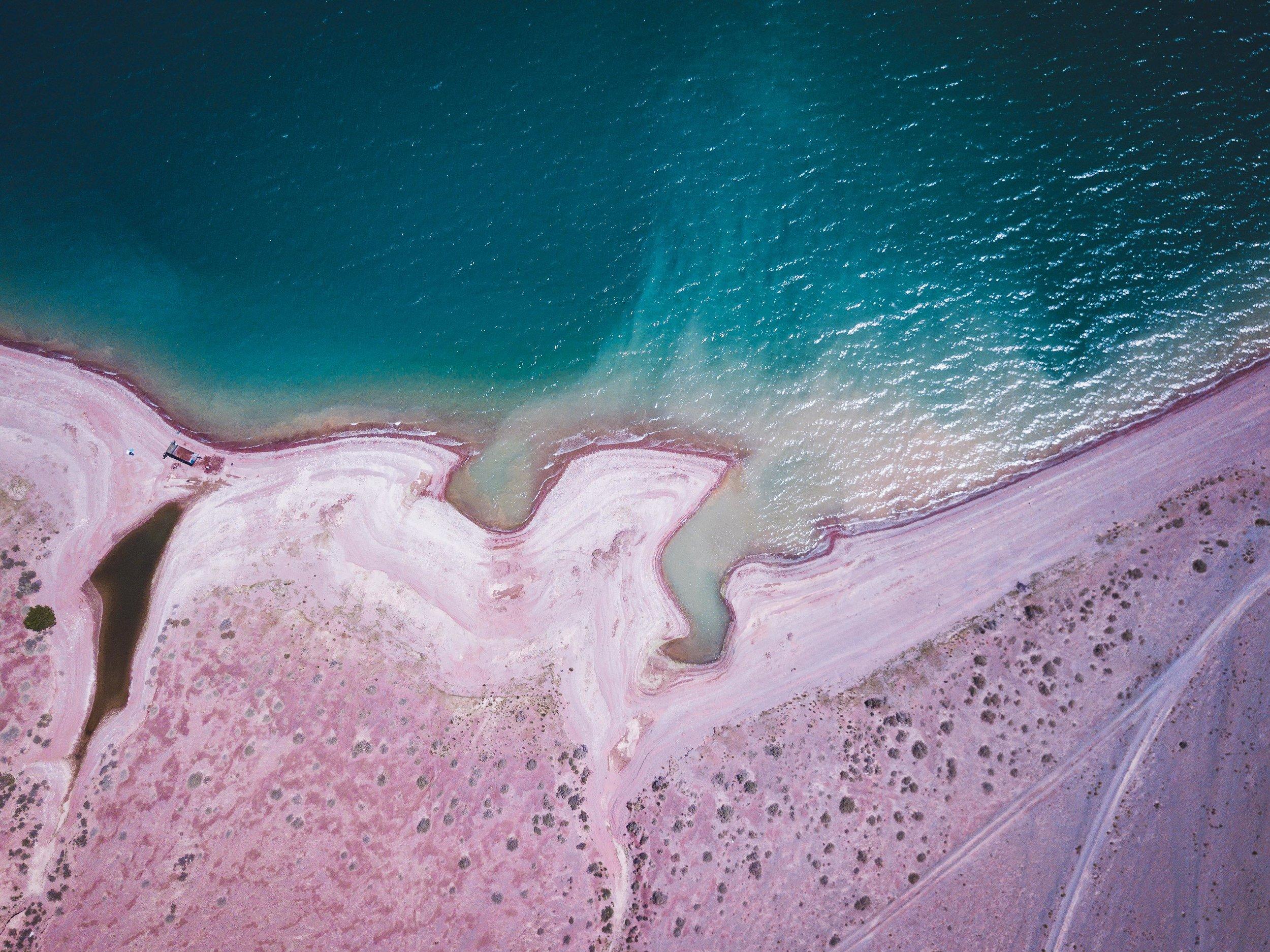 Orto-Tokoy Reserve - Large salt lake formed in the desert. Photo: Matt Horspool.