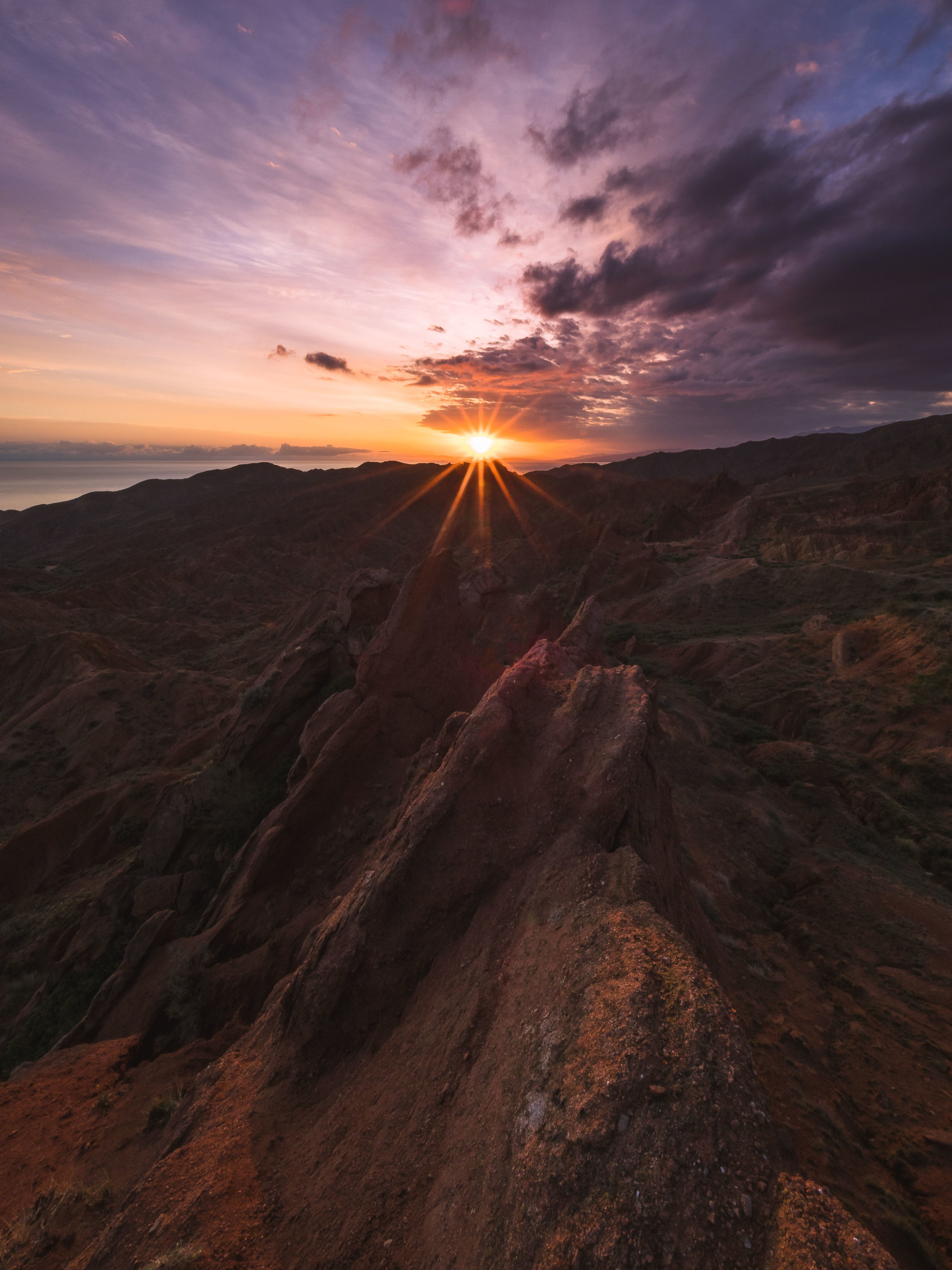 Skazka Stars - Sun flare over Skazka Canyon aka Fairytale Canyon. Photo: Matt Horspool.