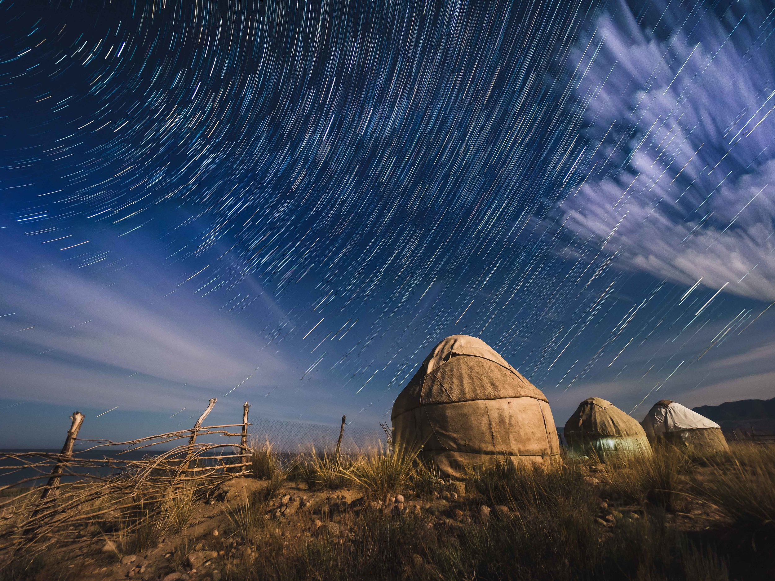 Bel Tam Yurt Camp - Camp situated on the sourthern shores of Issyk-Kul Lake. Photo: Matt Horspool.