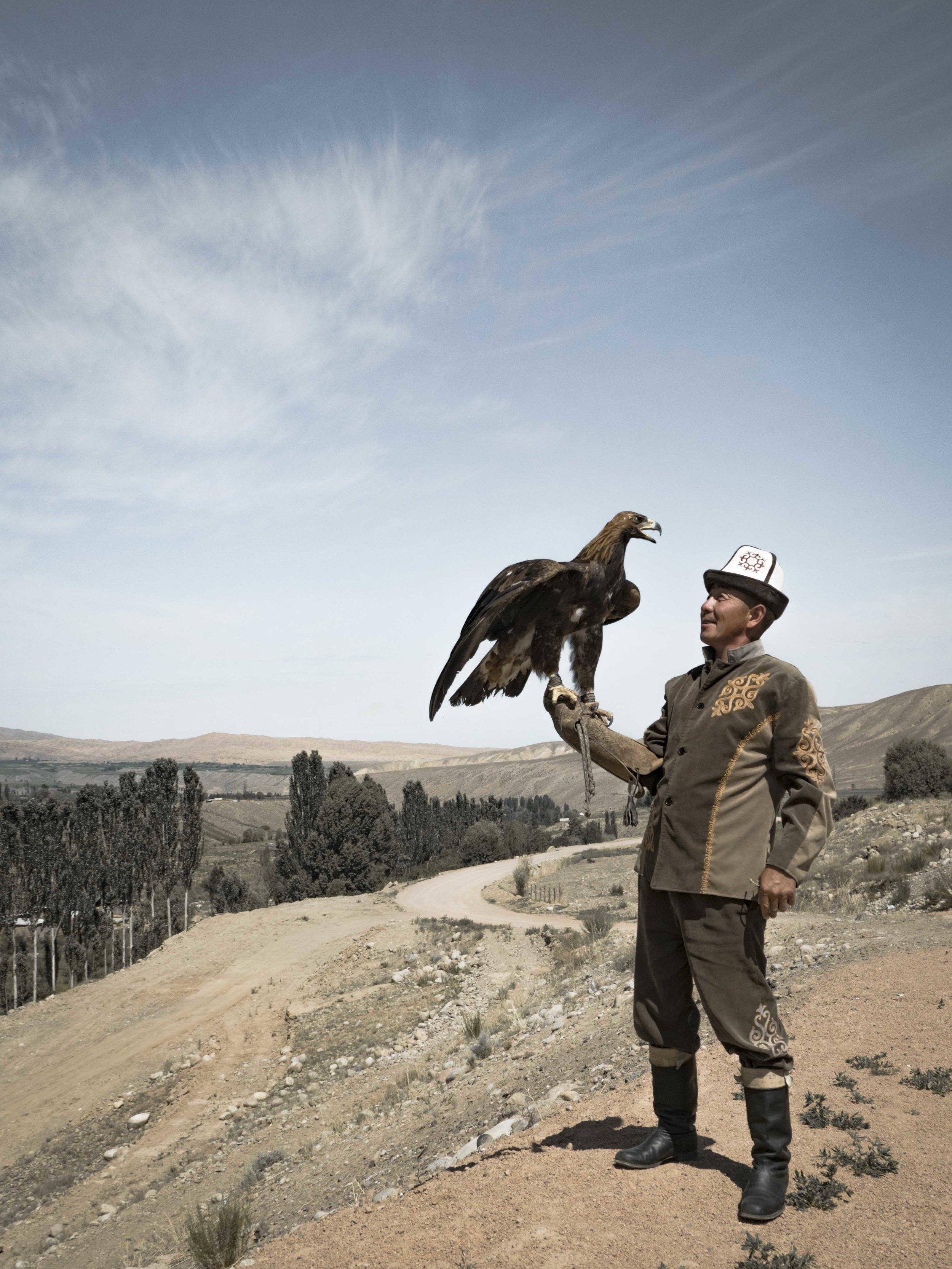 The Kyrgyz Eagle Hunter. Photo: Kel Morales.