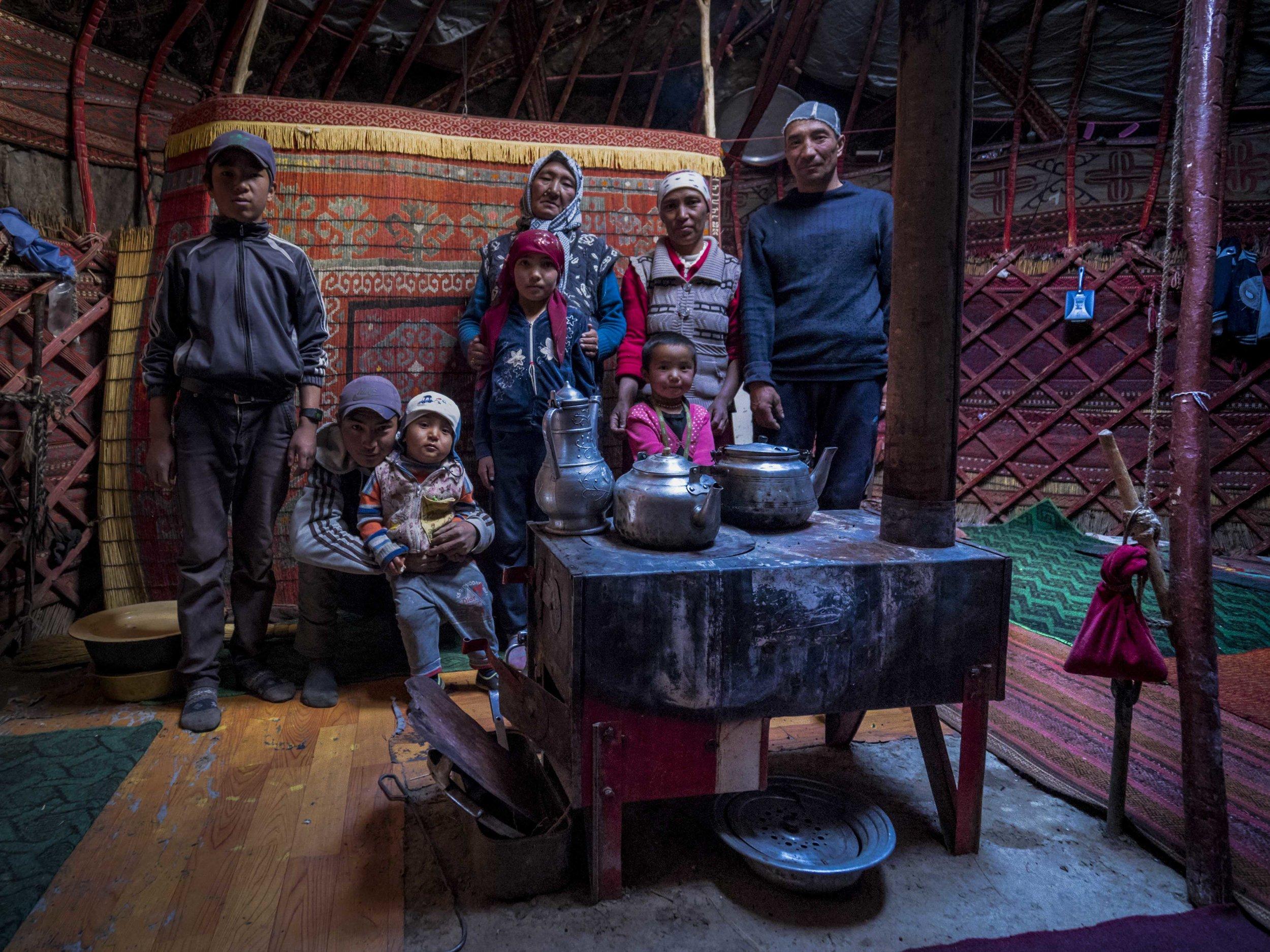 Our Drivers Family in Tajikistan. Photo: Kel Morales.
