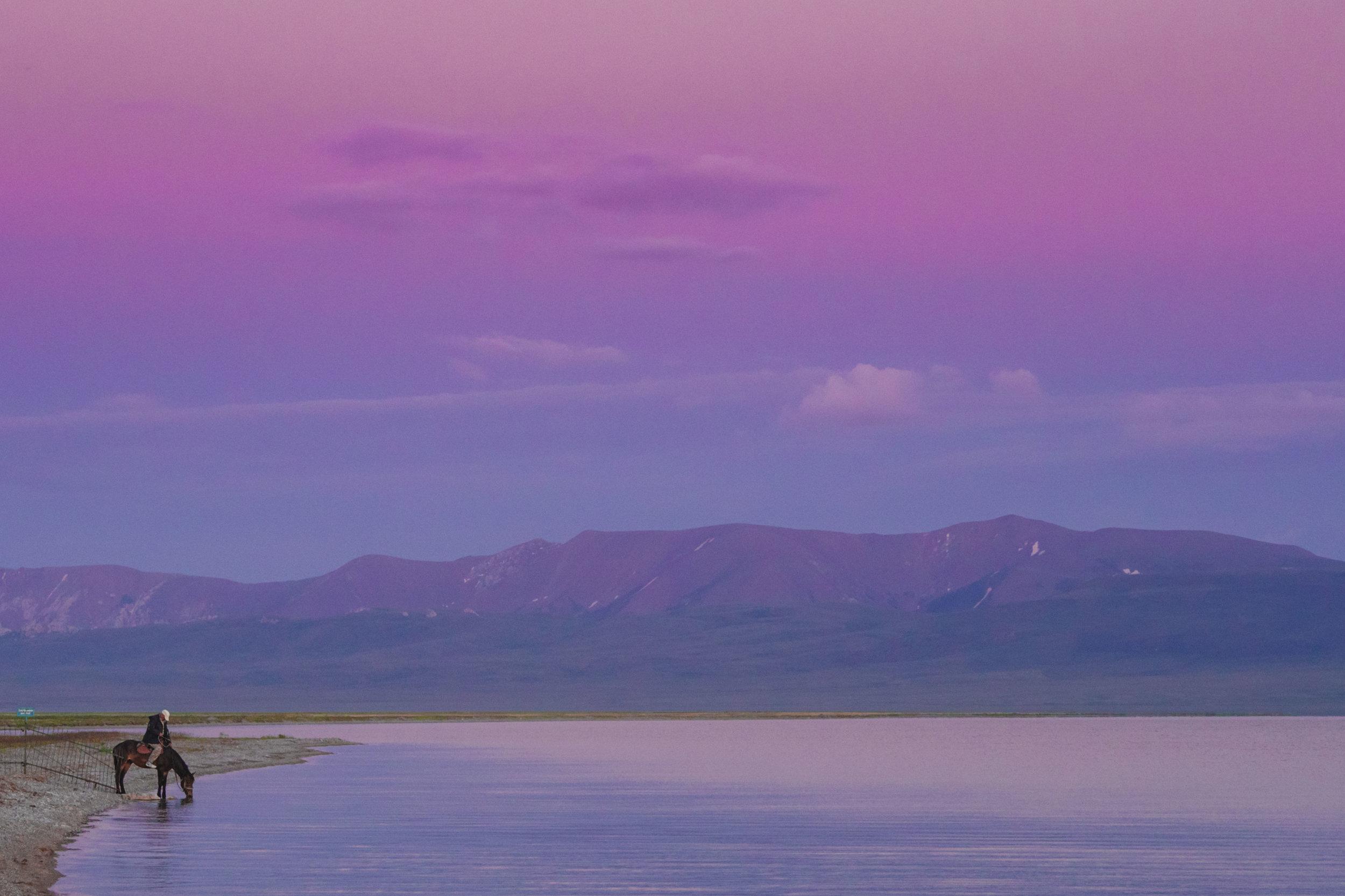 Serene Song-Kul Sunset. Photo: Kel Morales.