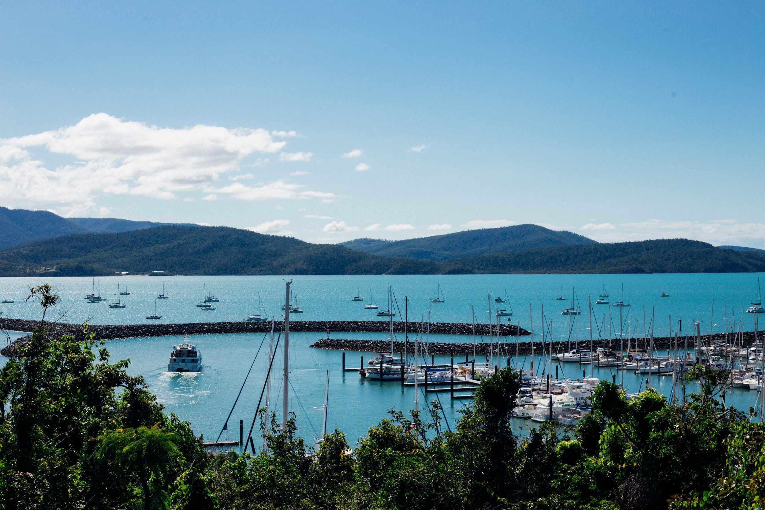 Beautiful view of Abel Point Marina in Airlie Beach. Photo: Marine Raynard.