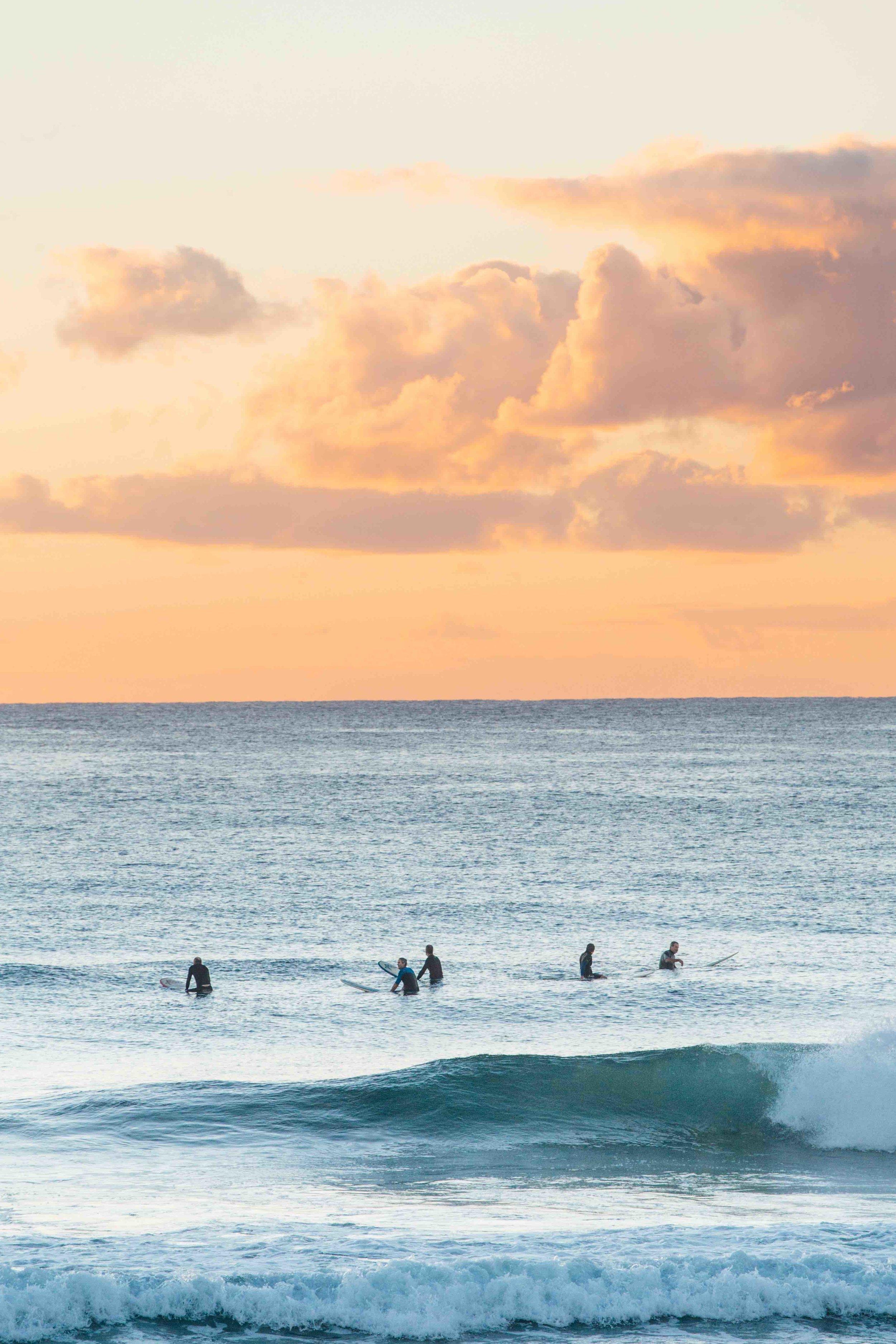 Sunrise surf in Manly Beach, Australia. Photo: Marine Raynard