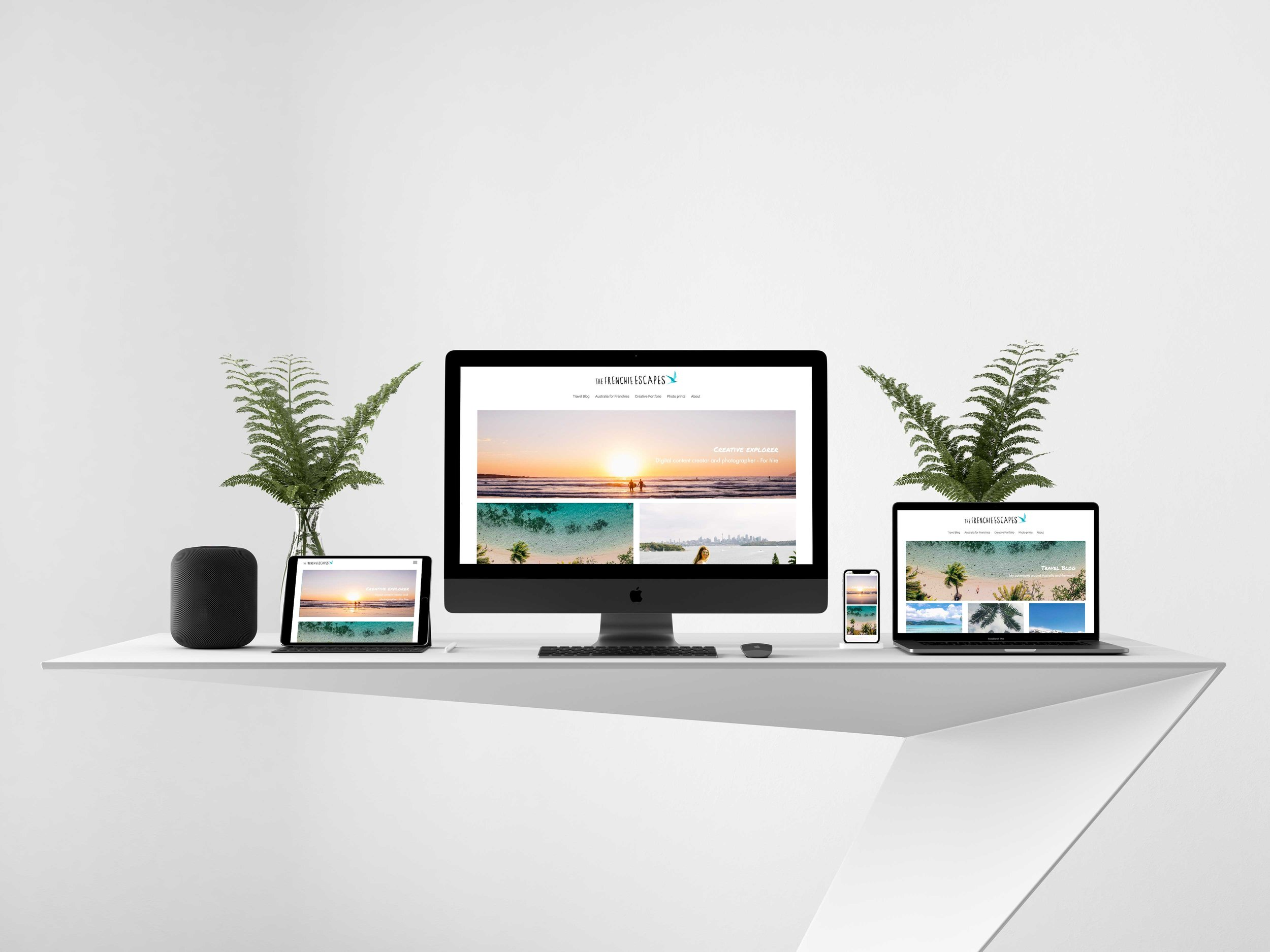 Originally built on Wordpress, I transitionned my own website to Squarespace a few years ago. After a first design, I then decided to re-design the whole website to a new clearer and nicer layout. See more here:  https://thefrenchieescapes.com