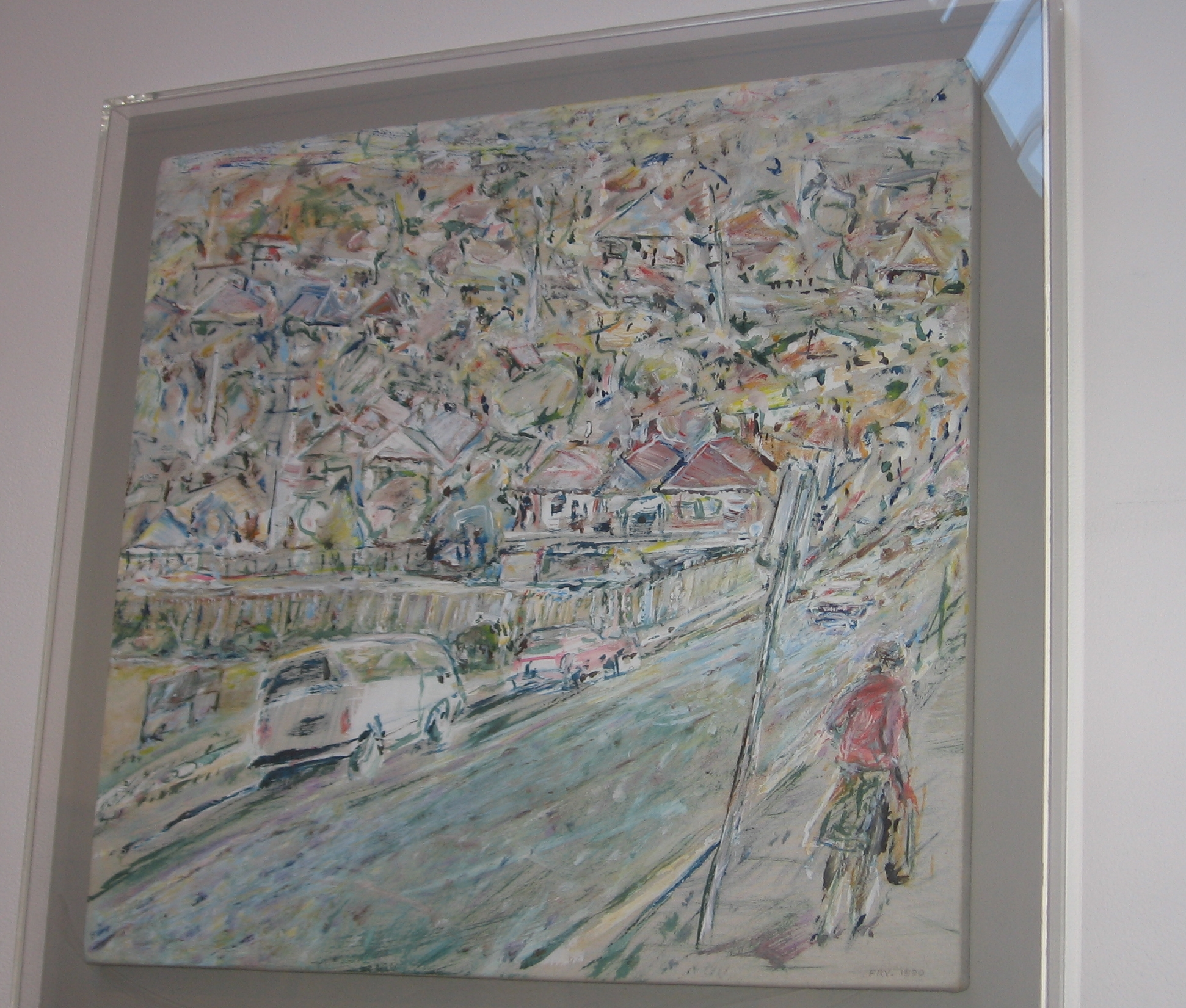 Hill Street, 1990, acrylic on cotton duck, 54 x 56 cm