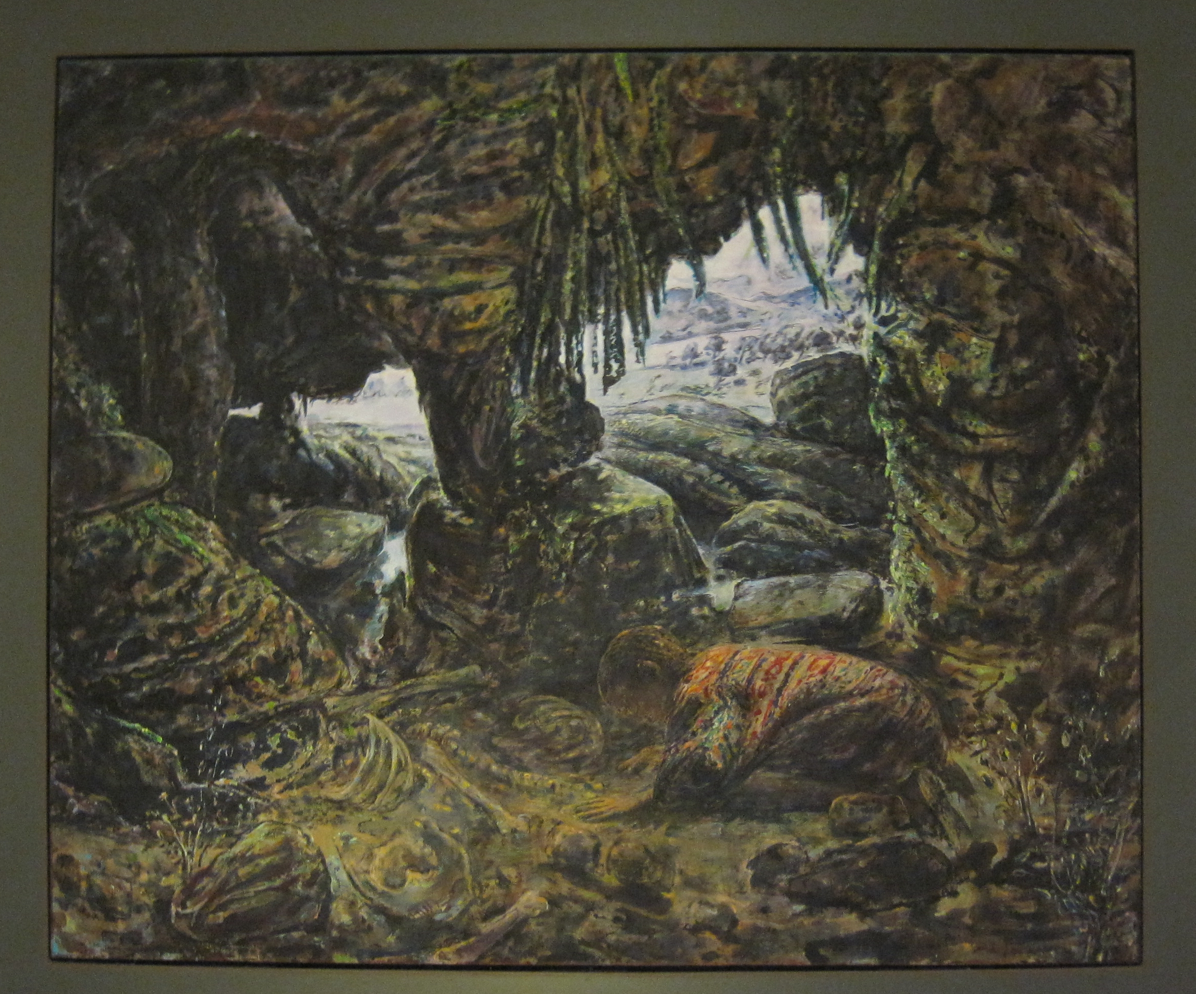 Bone Cave, 2004-5, synthetic resin on linen, 167 x 2001 cm