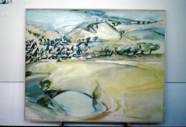 Abercrombie Valley, 1979, oil on white Masonite, 90 x 110 cm