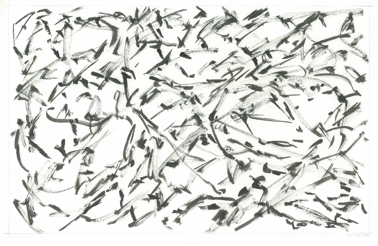 Leaf Formation, 1979, ink on paper, 23 x 25 cm