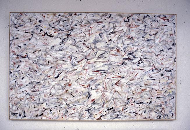 Coup, 1980, oil on gessoed cotton duck, 127 x 199 cm