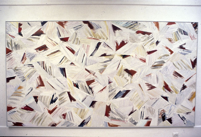 Blood and Feathers, 1981, oil, enamel and gessoed cotton duck, 169 x 281 cm