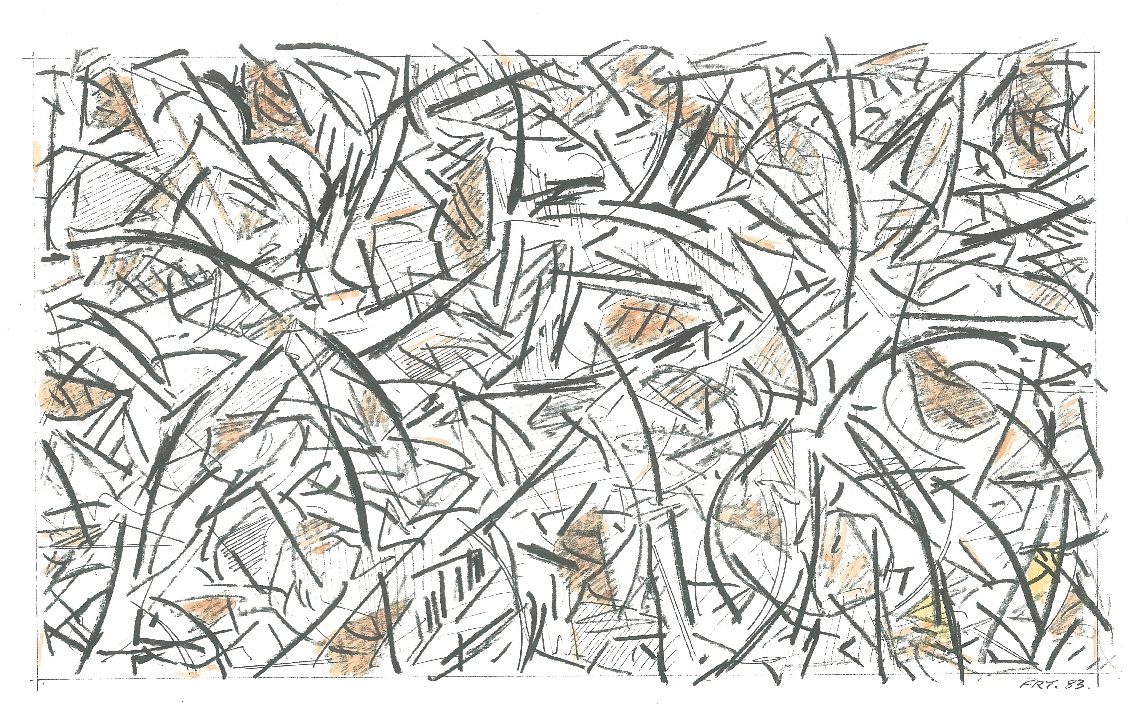 Forest Floor, 1983, offset print – hand coloured (limited edition), 30 x 23 cm