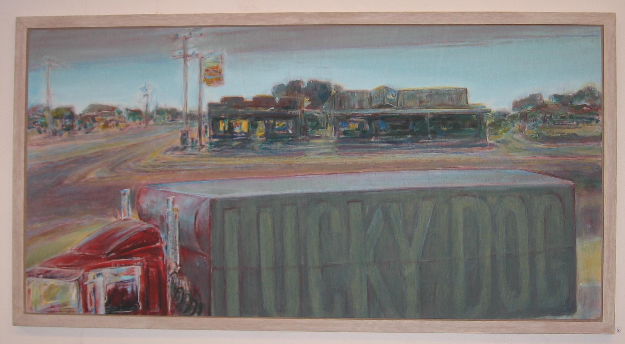 Lucky Dog, 1992-93, acrylic on plywood, 61 x 122 cm