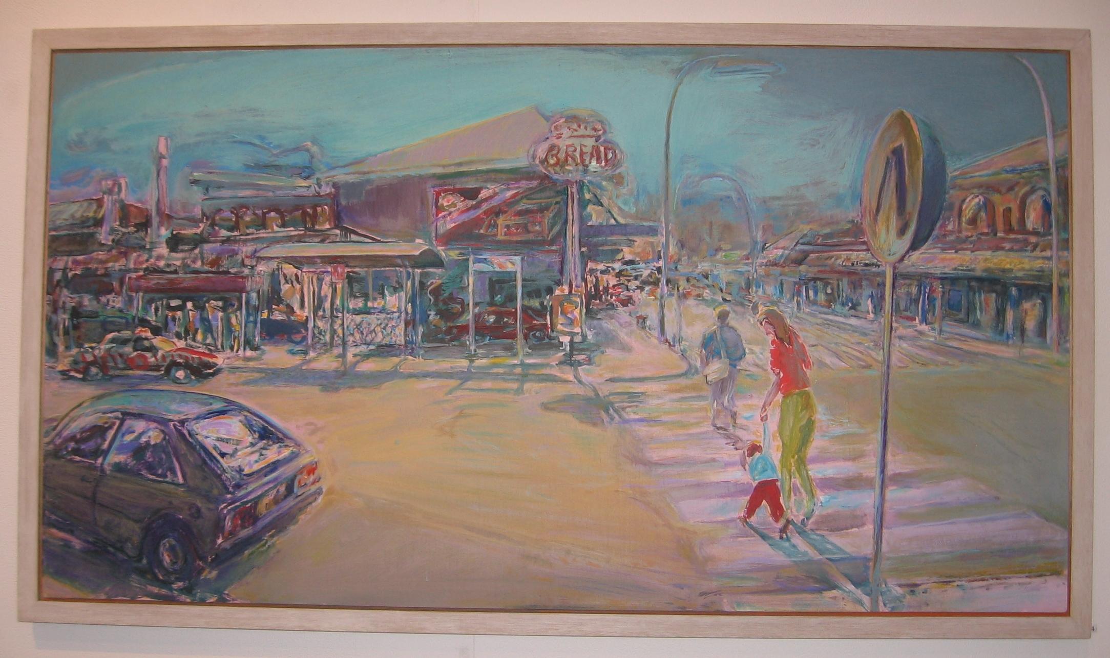 Crossing, 1992-93, acrylic on plywood, 66 x 122 cm