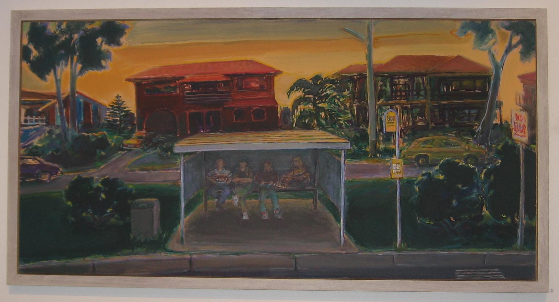 Waiting, 1992-93, acrylic on plywood, 61 x 122 cm