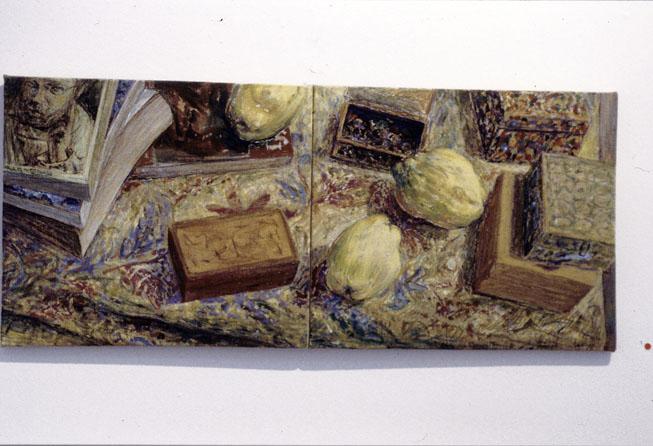 Quinces, 1995, acrylic on linen, 30 x 60 cm