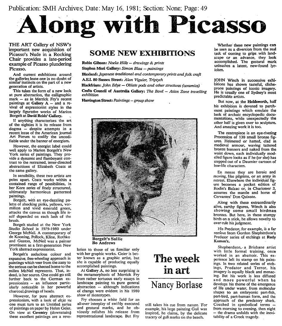 Along with Picasso SMH May 16 1981.jpg