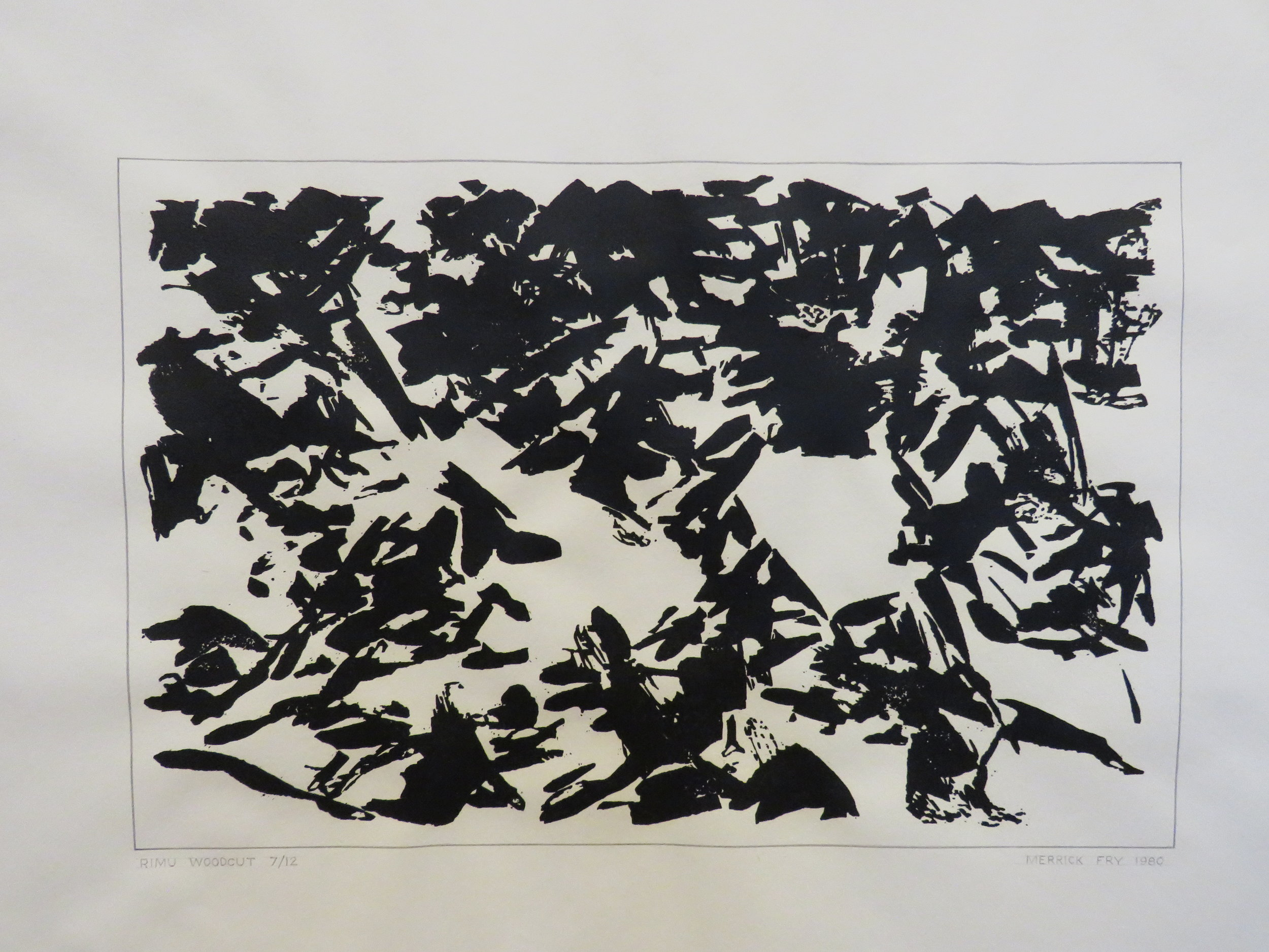 Rimu wood cut  print, 1980, (limited edition: 7/12)